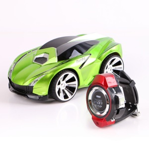 RC Voice Activated Car Commanded by Watch Voice Remote Control Vehicle - Green