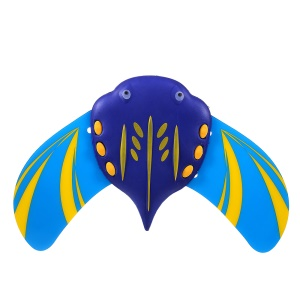 Manta Ray Swimming Fish Toy Water Power Mini Swimming Pool Fish Toy for Kids - Blue
