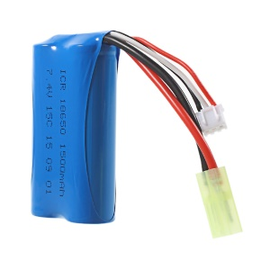7.4V 1500mAh 18650 Li-ion Battery Pack JST Plug for Double Horse 9053 MJX F45 T55 T23 RC Helicopter
