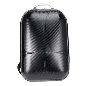 For DJI Mavic Pro MINI Hard Polished PC Shell Carrying Backpack Bag Case Waterproof Anti-Shock Box Bag EVA Interior - Black