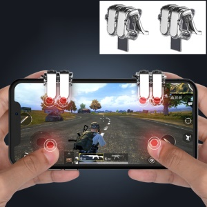 W6 Up-grade Four Buttons Quick Shooting Game Controllers Assist for STG FPS TPS Games - Transparent