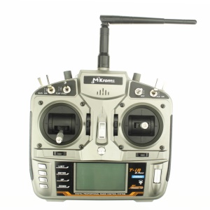 MKRON T-i8 2.4GHz 8CH DSMX Digital Spread Modulation X Compatible Transmitter 3-Pos Switch - Silver