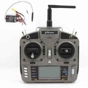 MKRON T-i6 2.4GHz 6 Channel Transmitter with Pass Back Function - Grey