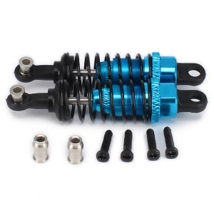 2Pcs/Set 65mm Aluminum Alloy Shock Absorbers RC Car Parts for WLTOYS A959-B RC Car - Blue