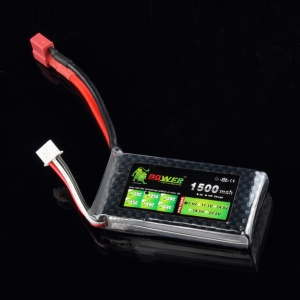 Lion Power 7.4V 1500mAh 2S1P 30C T Plug LiPo Battery for RC Helicopter Car