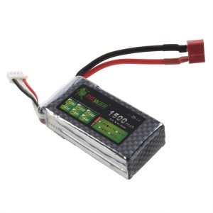 T Plug 11.1V 1500mAh 35C Lipo Battery Power for RC Helicopter 3D Airplane