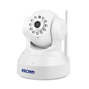 ESCAM QF001 720P 1.0MP WIFI IP Camera IR 10m, Support P2P Onvif Two-way Audio - EU Plug