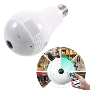 E27 360 degree WiFi LED Bulb Panoramic Camera Wireless 1.3MP IP Bulb Camera Smart Home 3D VR Camera