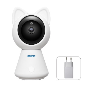 ESCAM QF509 Professional HD 1080P Pan/Tilt Audio Baby Monitor Mini Indoor WiFi IP IR Camera - EU Plug
