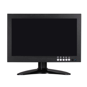8 Inch TFT LED HD Monitor HDMI VGA BNC AV Input for CCTV Camera - US Plug