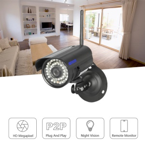 SINOCAM CCTV 1080P 2.0MP IR Wireless IP Bullet Camera, Support Onvif P2P (SN-IPC-5032CSW) - EU Plug