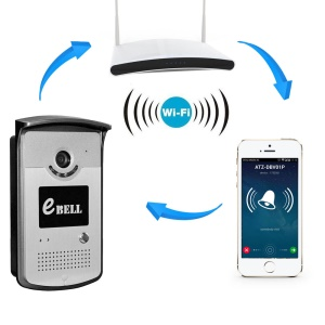 CCTV E-Bell 720P Intelligent WIFI Doorbell 2.5mm Lens 1.0MP Camera Support APP (ATZ-DBV03P) - EU Plug