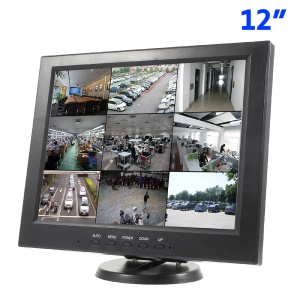 12-inch CCTV LCD Monitor Screen 800x600 with BNC, VGA, AV, HDMI Inputs (121H) - US Plug