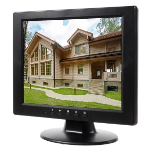 10.4-inch CCTV TFT LCD Monitor with VGA, AV, TV, HDMI, USB Inputs (T1046) - EU Plug