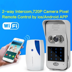 ATZ CCTV E-BELL 433MHz 720P Smart WiFi DoorBell with Indoor Horn 2.5mm Lens 1.0MP Camera (ATZ-DBV06P-433MHz) - EU Plug