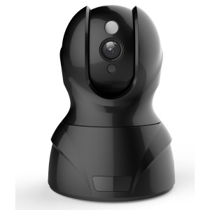 826 720P HD Rotary WiFi Security Surveillance IP Camera with Motion Detection Two-Way Audio Night Vision - Black / EU Plug