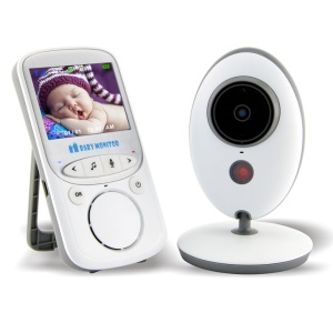 Security System 2.4-inch TFT LCD Video Baby Monitor Temperature Display with Night Vision and Two Way Voice Talk (VB605) - UK Plug