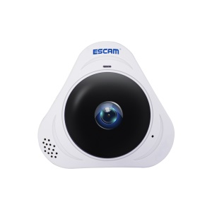 ESCAM Q8 360 Degree Fisheye Panoramic 960P HD H.264 Wifi Infrared IP Camera with Two Way Audio - White / AU Plug
