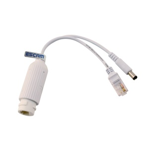 ESCAM POE S2 10/100M IEEE.802.af IEEE802.3at POE Splitter Cable for IP Camera