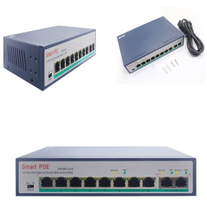8-Port Ethernet Switch with 6 PoE Ports + 2 Uplink, 10/100Mbps - EU Plug