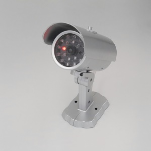 Dummy Fake Security Camera with Red LED Light