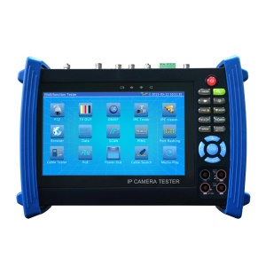 7.0-inch TFT LCD CCTV IPC + Digital Multimeter + Optical Fiber Power Meter + Visual Fault Locator + TDR + AHD + CVI + TVI + SDI + Analog Camera Tester Support 12V 2A Output PTZ Control WiFi - EU Plug
