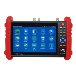7.0-inch TFT LCD CCTV IPC + AHD + CVI + TVI + 2A Power Bank + Analog Camera Tester Support PTZ Control POE WiFi ONVIF (IPC-9800ADH) - EU Plug
