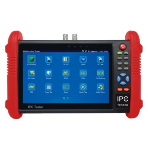 7.0-inch TFT LCD CCTV IPC + 2A Power Bank + Analog Camera Tester Support PTZ Control POE WiFi ONVIF (IPC-9800) - EU Plug