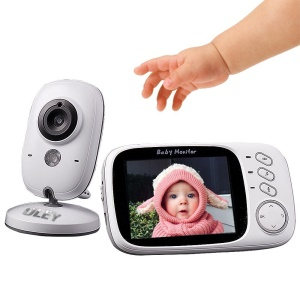 3.2-inch LCD Wireless Digital Video Infant Monitor with Night Vision and Lullabies - UK Plug