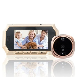 4.3-inch TFT Digital Door Peephole Viewer Camera Night Vision Function (516A) - EU Plug