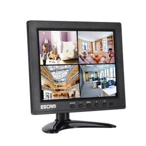 ESCAM T08 8.0-inch TFT LCD Monitor with VGA, BNC, AV, USB, HDMI Inputs - US Plug