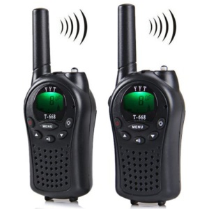 2 Pieces T-668 Handheld Auto Multi Channel 5KM Two Way Radio Walkie Talkie