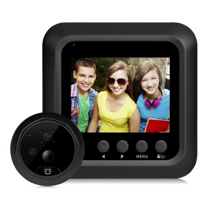 DANMINI Q5 2.4 Inch Screen Movement Detecting Door Bell Peephole Camera with Infrared Night Vision - Black