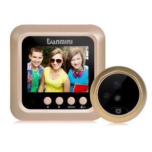 DANMINI W5 2.4 inch Color Screen No Disturb Peephole Viewer - Gold Color
