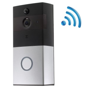 WiFi Video Doorbell Outdoor Battery PIR Night Vision Wireless Door Intercom Built-in 8G TF Card