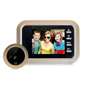 Q8 2.4-inch Color Screen No Disturb Smart Door Bell Peephole Viewer - Gold Color