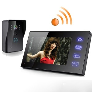 "7"" TFT 2.4G Wireless Video Door Phone Intercom Doorbell Home Security Camera Monitor (SY806MJW11) - EU Plug"