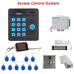 Door Access Control Controller ABS Case RFID Reader Keypad Remote Control 10 ID Cards Magnetic Lock (SY5100R-A)