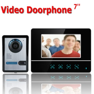 7 inch TFT Touch Screen Color Video Door Phone Intercom System Night Vision SY811FA11 - EU Plug