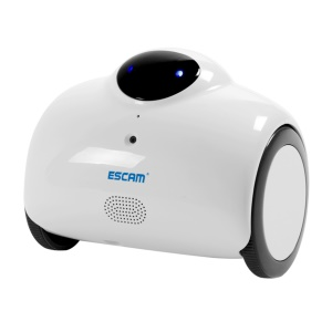 ESCAM Robot QN02 720P Robot Video Camera Kid Elder Companion Support 2-way Audio/P2P - White / US Plug