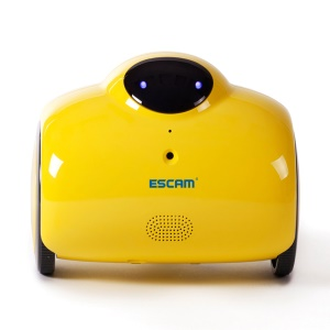 ESCAM Robot QN02 720P Robot Video Camera Kid Elder Companion Support 2-way Audio/P2P - Yellow / EU Plug