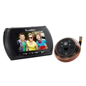 DANMINI 4.3 Inch Screen Movement Detecting Door Bell and Peephole Camera No Disturb Function YB-43AHD-M - Black