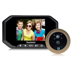 "DANMINI 3.5"" TFT Digital Door Peephole Viewer Camera with PIR Motion Detection Night Vision Function (YB-35AHD) - Black"