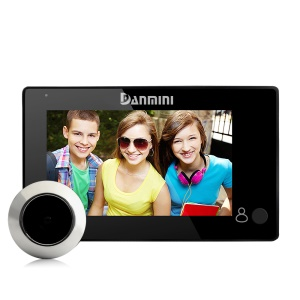 DANMINI YB-43CH Hidden Type Camera 4.3 Inch Color Screen Peephole Viewer - Black