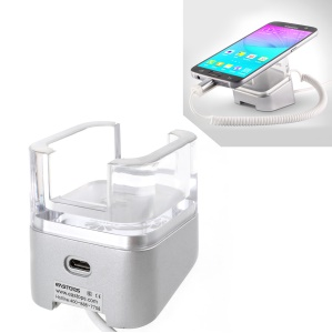 HUAWEI Anti Theft Security Spring Wire Smartphone Display Mount Stand Holder with Charging Function - US Plug