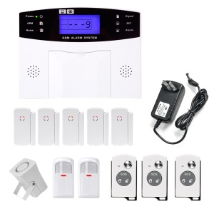 YA-500-GSM-21 LCD Display Wireless GSM Auto Dial SMS Home House Office Security Burglar - EU Plug