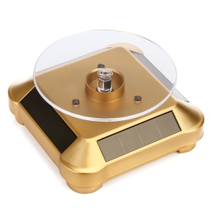 Solar Powered Rechargeable Display Stand for Jewelery Diamond Mobile Phone (ZTY-002) - Gold