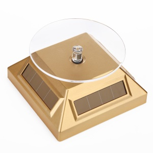 Solar Powered Rotatable Display Stand Turntable for Phone Jewelry ( ZTY-007) - Gold