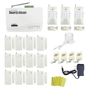 IN-COLOR 12 Magnetic Detectors Global Universal Wireless GSM Home Security Alarm System - US Plug