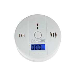 Battery-Operated Carbon Monoxide Alarm with Digital Display